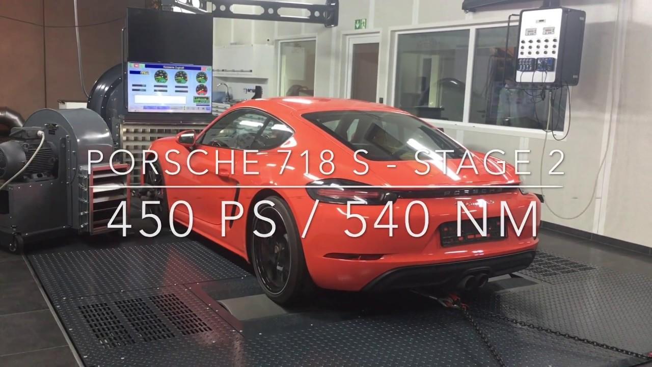 Porsche 718 S - Stage 2 - 450 HP / 540 NM - YouTube