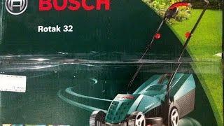 Обзор электрокосы Bosch Rotak 32