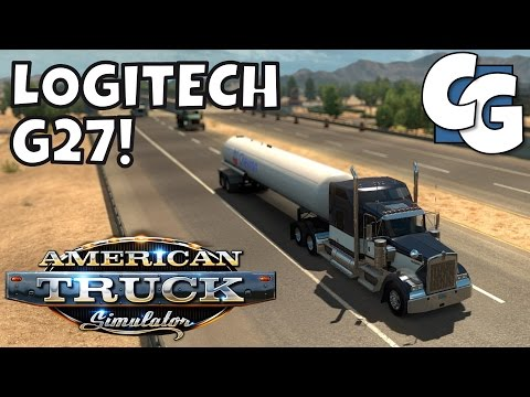 American Truck Simulator - Going Manual w/ the Logitech G27 Wheel! (Eaton Fuller) - Ep. 5 - Gameplay