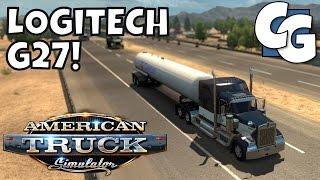 american truck simulator going manual w the logitech g27 wheel eaton fuller ep 5 gameplay