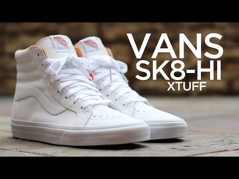Closer Look  Vans Sk8-Hi Xtuff - White - YouTube f1025e0de