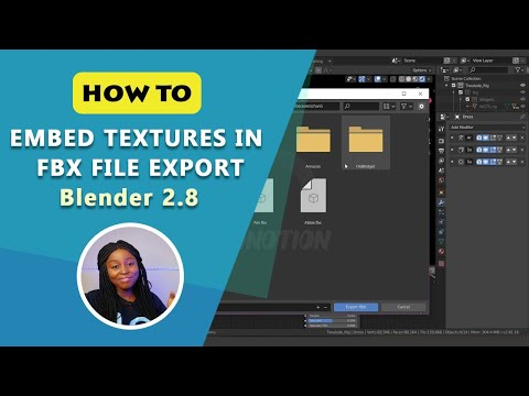 How To Embed Textures In FBX File Export - Blender 2.8