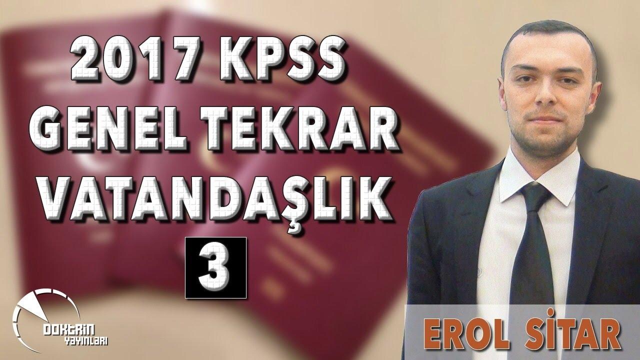 VATANDAŞLIK GENEL TEKRAR - 3 / EROL SİTAR