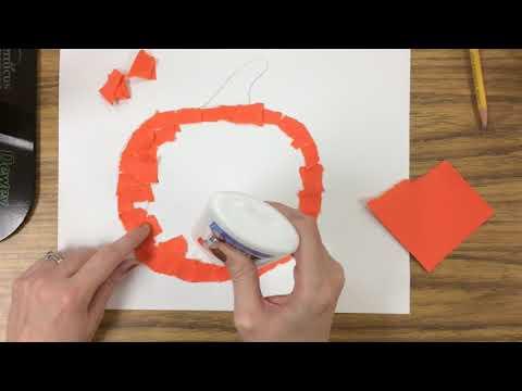 Kindergarten - Torn Paper Pumpkin Demo