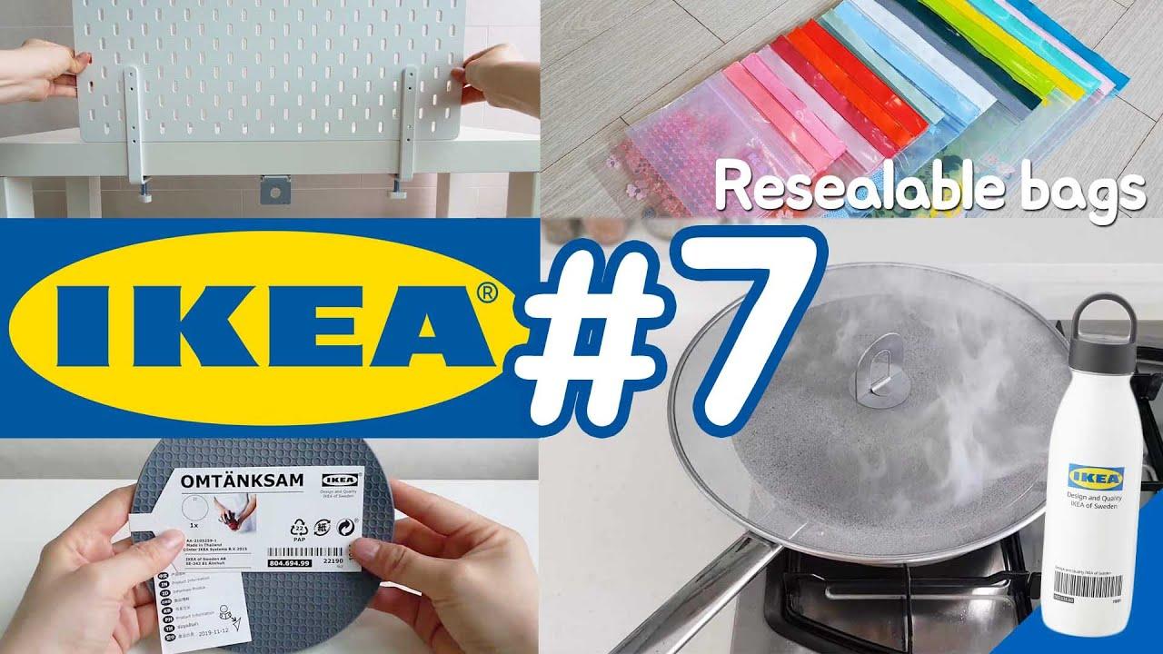079. 이케아 리뷰 7탄 - 지퍼백 총집합 & 벽에 나사 안 박고 페그보드 설치하는 방법! Ikea review #7