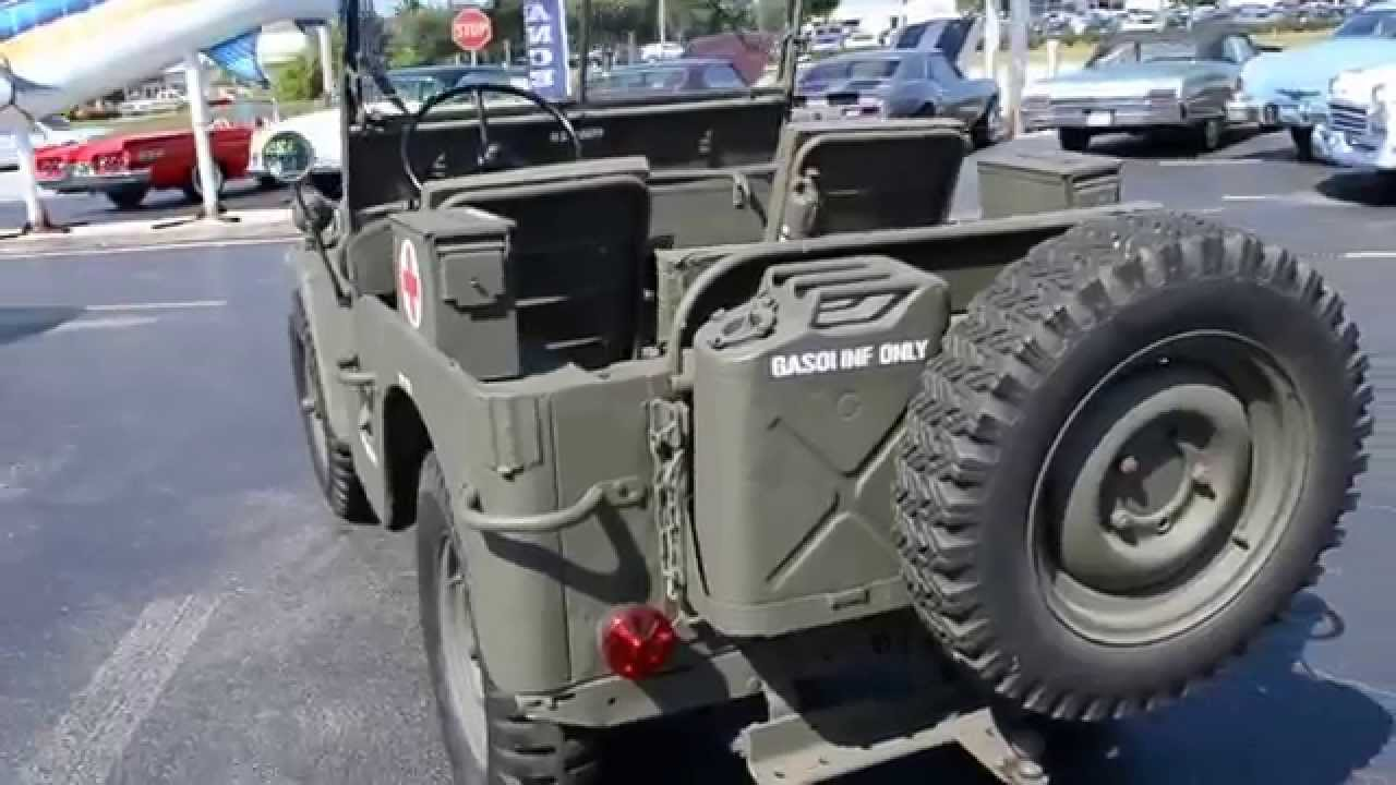 medium resolution of 1948 willys cj 2a military jeep classic cars for sale stuart fl 34997 youtube