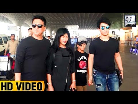 Sajid Nadiadwala & His Family Spotted At Airport ...  Sajid Nadiadwal...