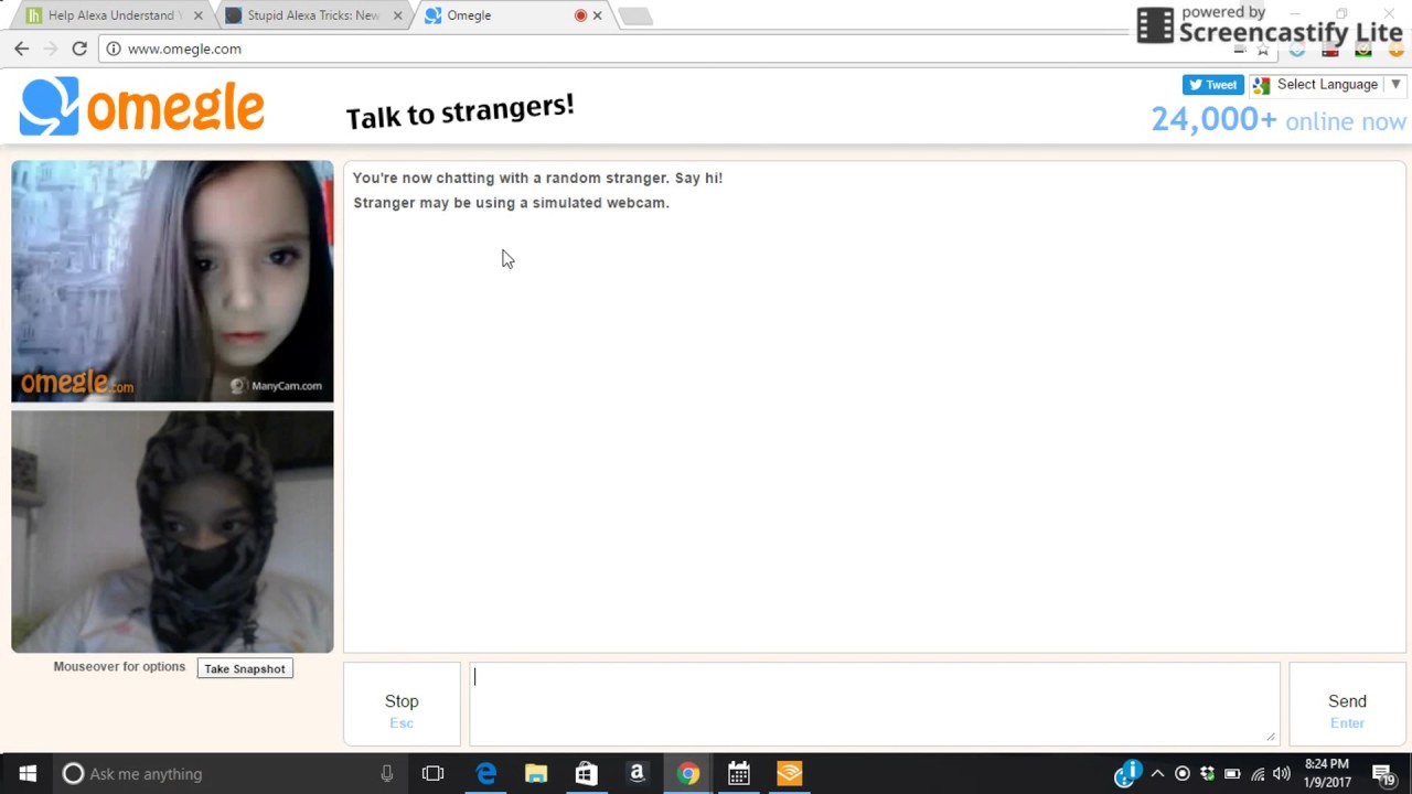 chatting on omegle