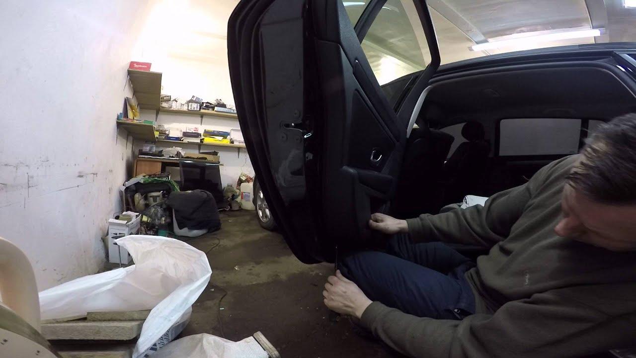 Renault Megane III Estate - disassembly door  ( разборка двери)  Part II