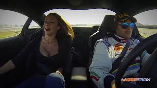 Melita Toniolo e Paolo Andreucci hot lap con una Peugeot RCZ R