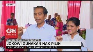 Usai Nyoblos Bareng Istri, Jokowi: Plong..!