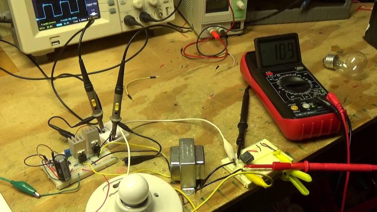 DIY Inverter Circuit 4047/IRF540 Design