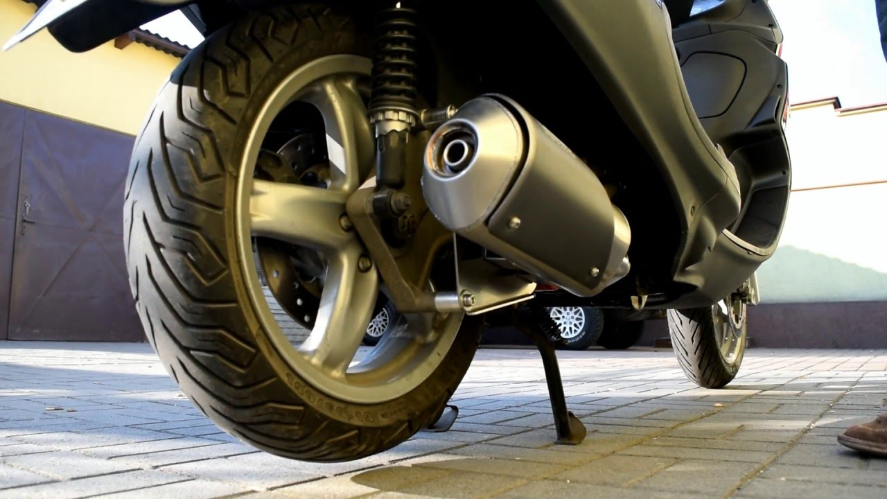 giannelli iperscooter vs original exhaust piaggio x9 125 evolution