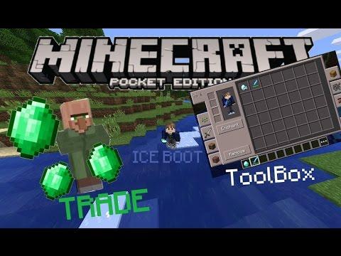 MCPE 0.14.0 | Ice Boot Như Trên PC,Trao Đổi Với Dân Làng,TooManyItems ToolBox Update! | Mod Showcase