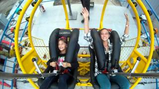 Fearless 8 year old rides the slingshot thumbnail