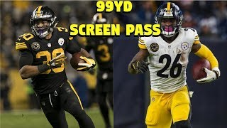 JAMES CONNER VS LEVEON BELL!! WHO CAN GET A 99YD SCREEN PASS FIRST?!?