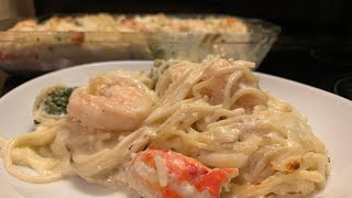 How To Make Baked Seafood Alfredo