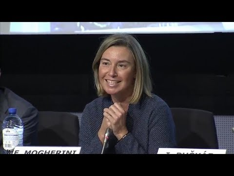 Federica Mogherini at the EU Trainees Job Fair