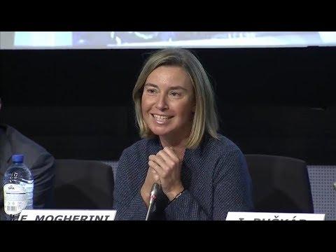Federica Mogherini At The EU Trainees Job Fair