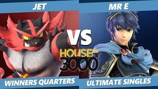Smash Ultimate Tournament - TG   Jet (Incineroar) Vs. Mr E (Marth) SSBU Xeno 144 Winners Quarters thumbnail