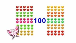ЦИФРЫ Яблоки-Десятки. Учим десятки то 10 до 100. Карточки Домана