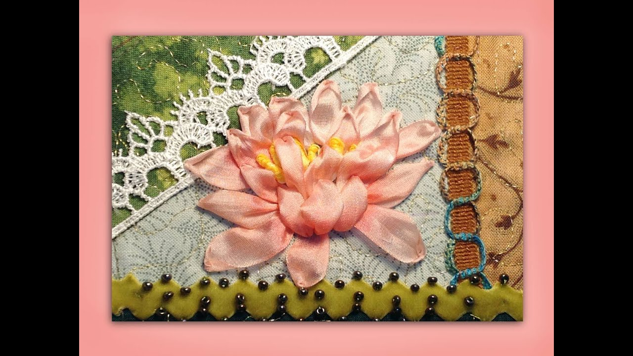 How to embroider a silk ribbon waterlily flower youtube how to embroider a silk ribbon waterlily flower ccuart Gallery