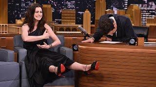 Anne Hathaway & Jimmy Fallon SING Google Translated Songs