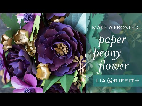 How to Make a Simple Paper Peony Flower - Fall Flower Bouquet Series