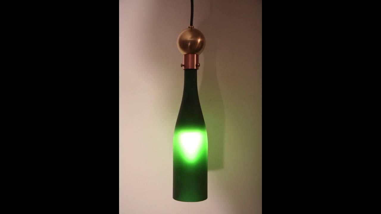 Wine Bottle Light Fixture Wine Bottle Lights By Zuma Creations Youtube