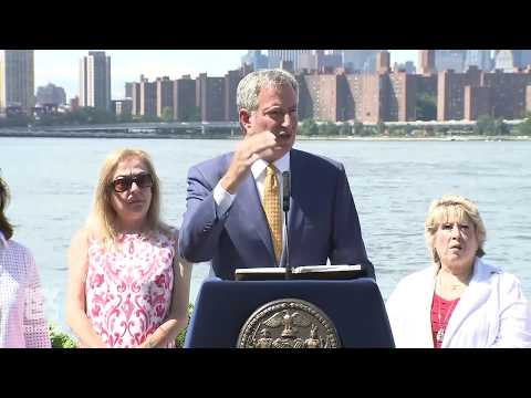 Mayor de Blasio Makes Announcement About NYC Ferry Service