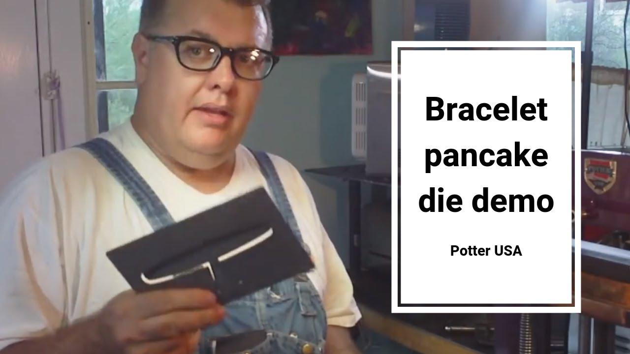 Potter usa bracelet pancake die video demo for hydraulic press youtube potter usa bracelet pancake die video demo ccuart Choice Image