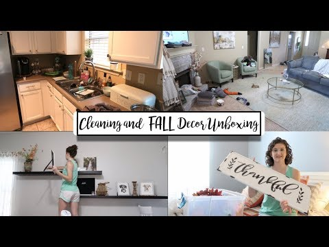 WRECKED HOUSE CLEAN WITH ME + UNBOXING FALL DECOR