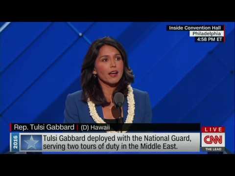 Tulsi Gabbard Nominates Sen. Bernie Sanders at Convention