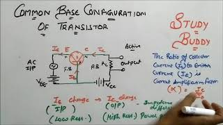 Common Base(CB) Configuration of Transistor
