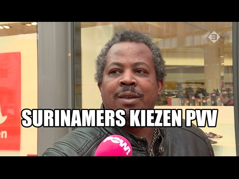Surinamers kiezen PVV