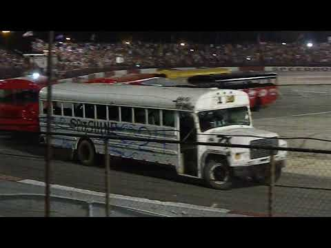 Crystal - WATCH:  School Bus & Trailer Races Figure 8 At Indy Speedrome 6/2919