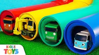 무지개 파이프 | 장난감 중장비 포크레인 미끄럼틀 트럭 자동차 변신 로봇 | 타요 어벤져스 | 키글 토이 - KIGLE TOYS
