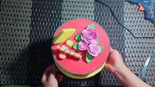 Đồ Dùng Mầm Non/ Cách Làm Bánh Sinh Nhật Bằng Mút Xốp/ Maly Windy