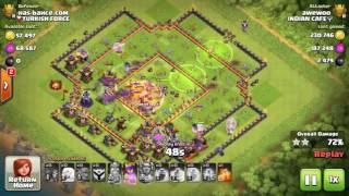 Clash of Clans - 3 Starring Max Th11 Base | Bowler + Healer Strategy