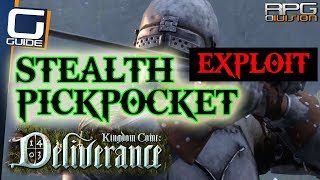 KINGDOM COME DELIVERANCE - Easy STEALTH & PICKPOCKET Stat Leveling