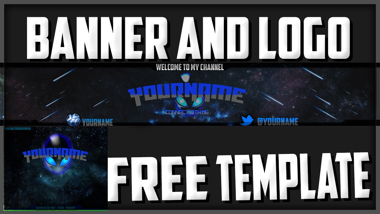 alien banner template first template read the description youtube
