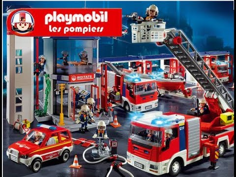 Playmobil pompier fire rescue feuerwehr bomberos youtube - Playmobil pompiers ...