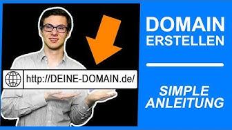 ᐅ EIGENE DOMAIN ERSTELLEN: URL ERSTELLEN 2019 | Domain Hosting | WordPress Tutorial #001