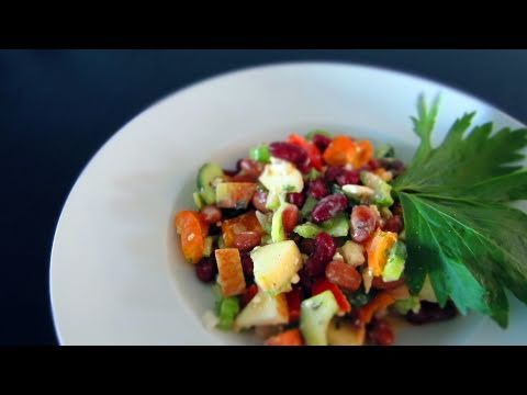 Easy Delicious Bean Salad! Healthy Cooking