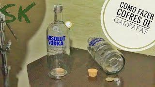 Como fazer Cofres de garrafas de vidro   Bottle Piggy Bank   Faça você mesmo - DIY   SK