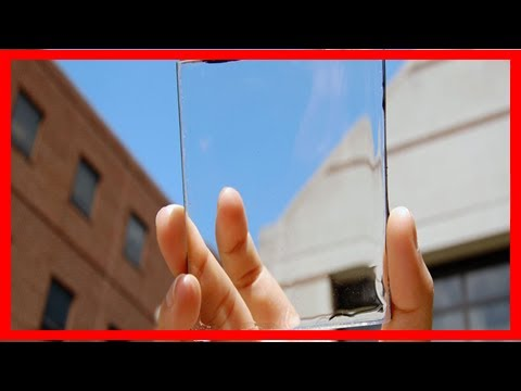Breaking News | Transparent solar cells like this could deliver 40% of america's power