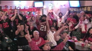 49ers Fans Watch The NFC Championship - 49er Fans React - Niners Lose The Game 2014