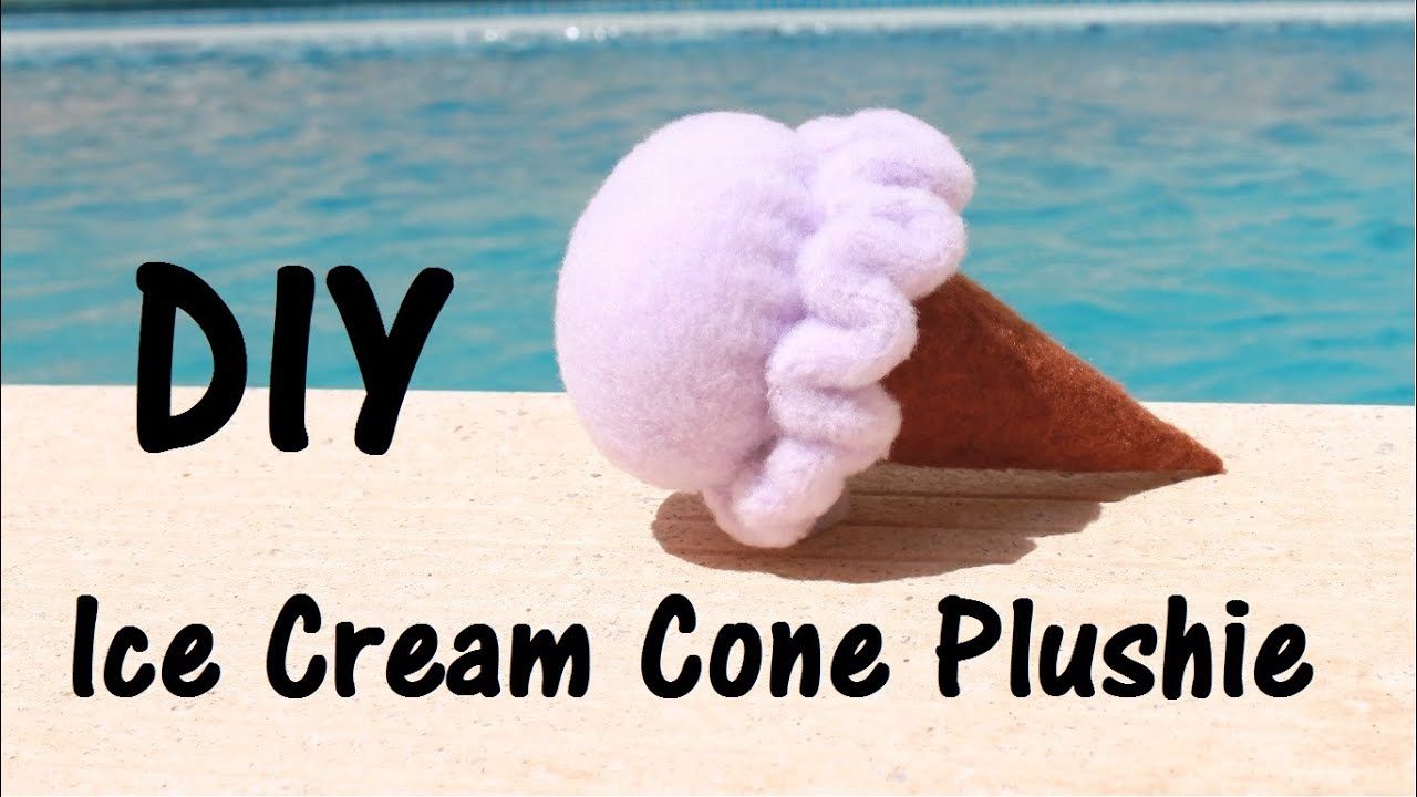 Ice Cream Cone Plushie | 5 minute DIY - YouTube