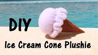 Ice Cream Cone Plushie | 5 minute DIY