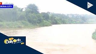 Lebel ng tubig sa Marikina River, tumaas